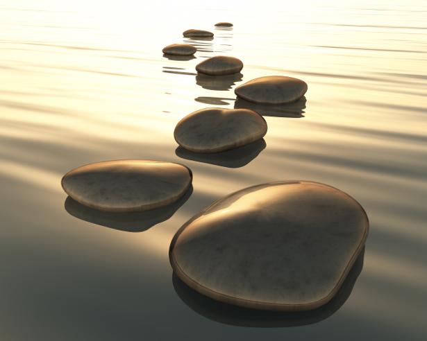 Фотообои камни на воде (nature-00582)