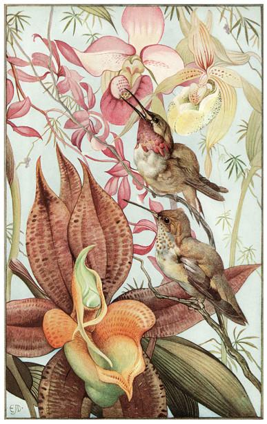 цветы и птица (pf-41)