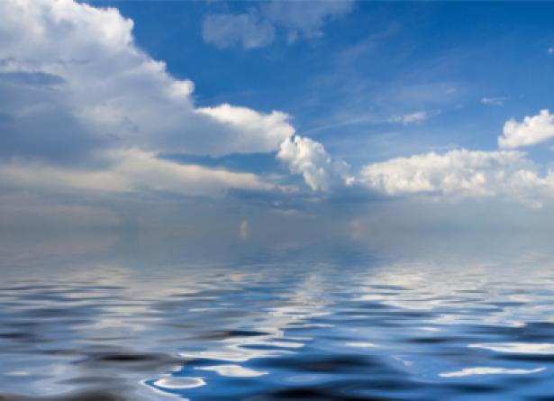 Фотообои небо в отражении воды (sky-0000090)