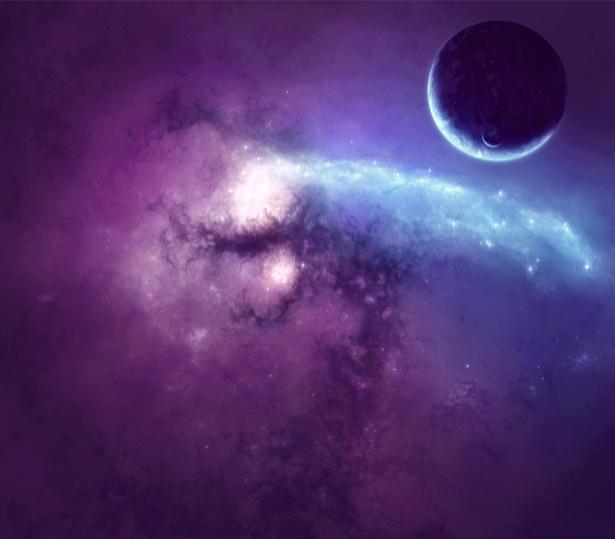 Фотообои звезды планета космос (space-0000008)
