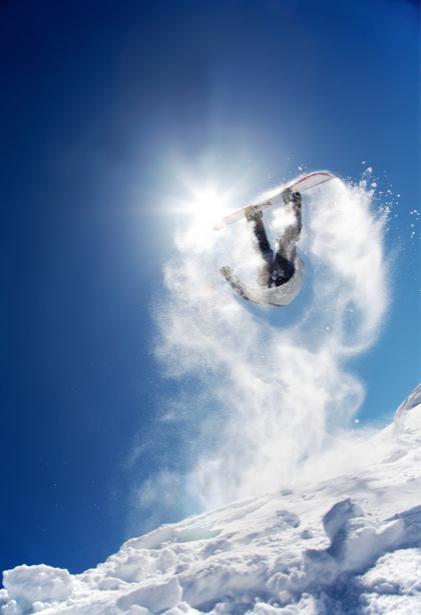 Фотообои сноубордис снег (sport-0000082)