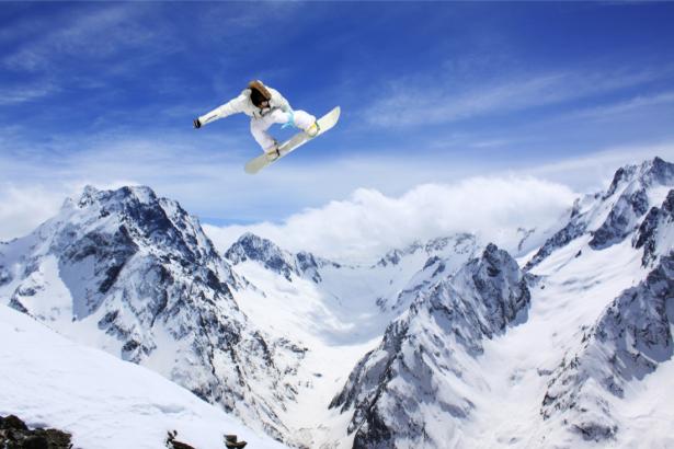 Фотообои сноубординг (sport-0000135)