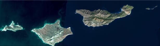 Фотообои NASA острова (terra-00258)
