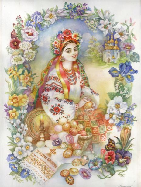 Картина Украинка в национальной одежде (ukraine-0228)