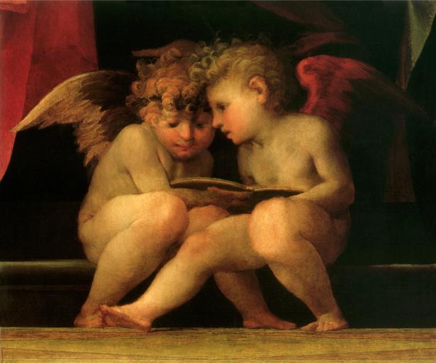 Фотообои ренессанс читающие ангелочки (angel-00012)