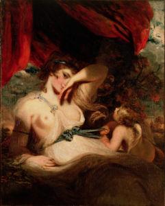 Картина Амур развязывает пояс Венеры обои (angel-00013)