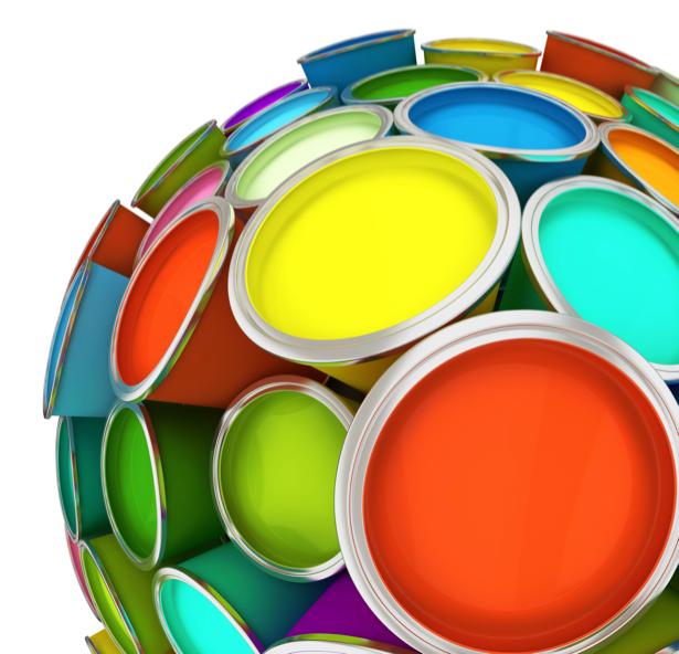 Фотообои цветные круги шар (background-0000096)