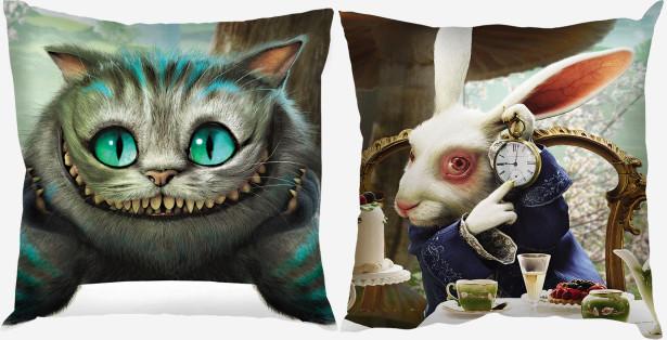 Подушка Чеширский кот и белый кролик (child-9)