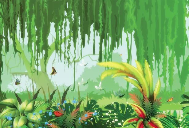Фотообои животные в джунглях (children-0000234)