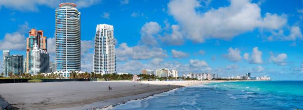 Фотообои пляж майами флорида америка (city-0000096)
