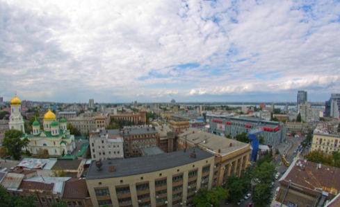 Фотообои Днепропетровск небо дома (city-0000959)
