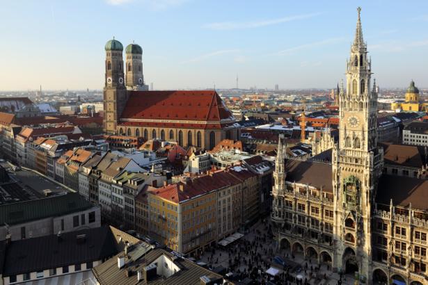 Мариенплац мюнхен - Фотообои (city-0001076)