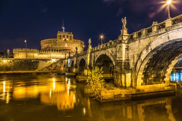 Фотообои Италия мост Сант Анджело Рим (city-0001276)