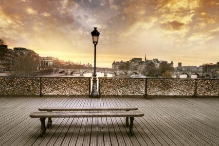 Фотообои Париж вид на город вечер (city-0001308)