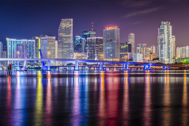 Фотообои ночной город архитектура (city-0001334)
