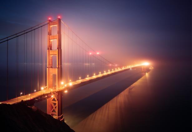 Фотообои мост Золотые Ворота (city-0001373)