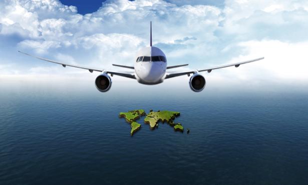 Фотообои самолёт над океаном (fantasy-0000083)