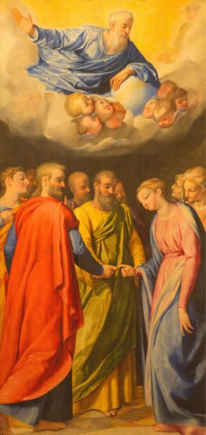 Фотообои О браке ст. Иосиф и Дева Мария (fresco-008)