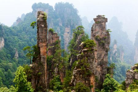Фотообои Китайские горы вершины фото (nature-0000839)