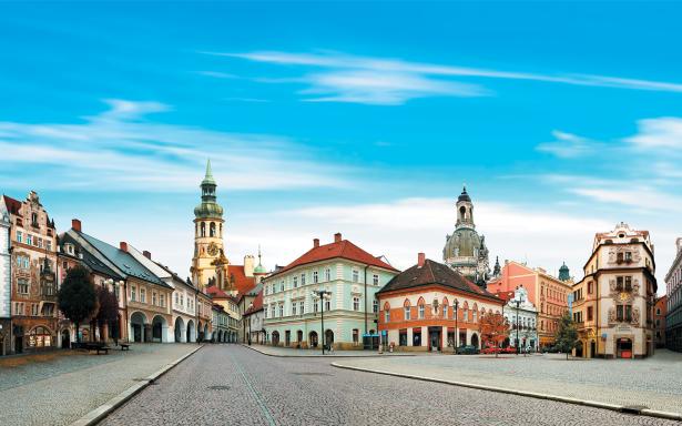 Фотообои коллаж Чехия улочки (printmaking-0000043)