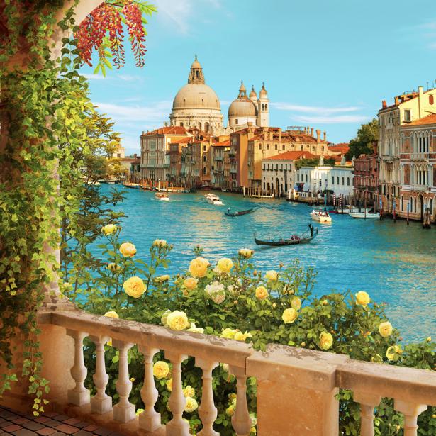 Фото обои Терраса в Венеции (printmaking-0000085)