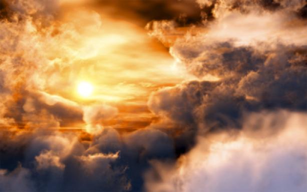 Фотообои небо закат с облаками (sky-0000015)