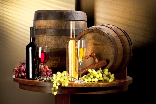 Фотообои с вином виноград (still-life-0037)