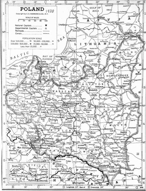 Карта Польши 1938 г. (ukraine-0234)