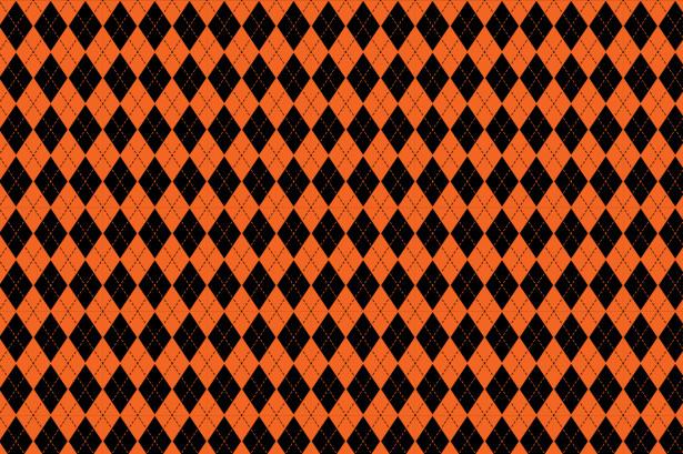 Скатерть Черно-оранжевые ромбы (0097)