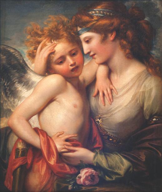 Картина Венера утешает Амура фреска (angel-00010)