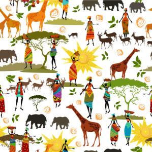 Фотообои Паттерн Африка (animals-0000475)