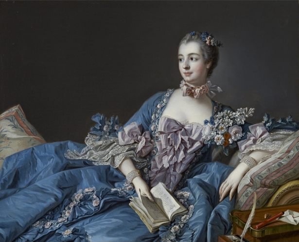 портрет барышни с книгой, Франсуа Буше (art-0000124)