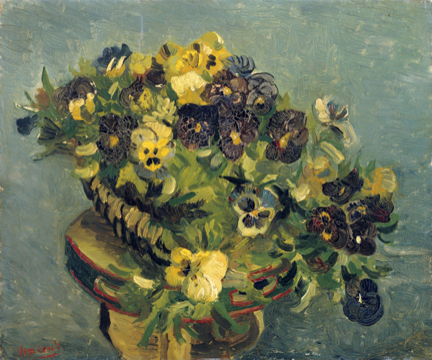 Фото картины цветы Анютины глазки (art-0000164)