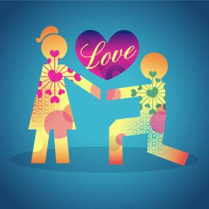 Фотообои признание в любви (background-0000367)