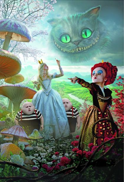 Алиса Детские обои в Стране чудес (children-0000042)