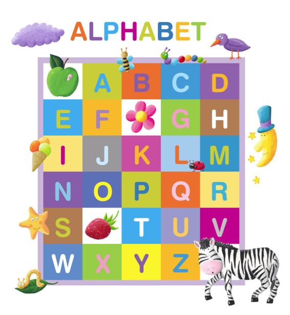 Фотообои детские Английский алфавит (children-0000318)