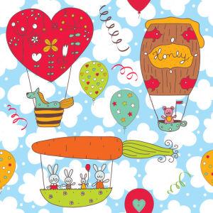 Фотошторы небо в цветочек (children-curtain-00010)