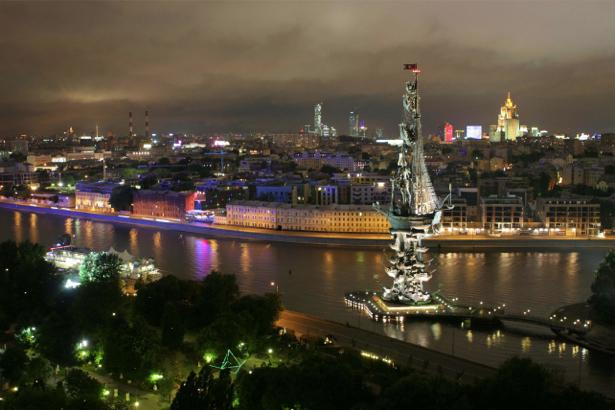 Фотообои ночная Москва (city-0000737)