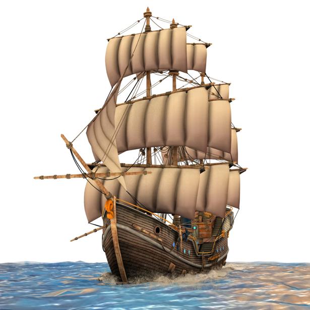 Фотообои зд корабль парусник (fantasy-0000050)