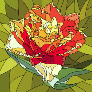 Цветок фото обои Витраж (flowers-0000701)