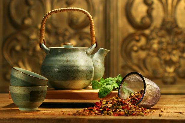Фотообои для кухни Чайные приборы (food-0000069)