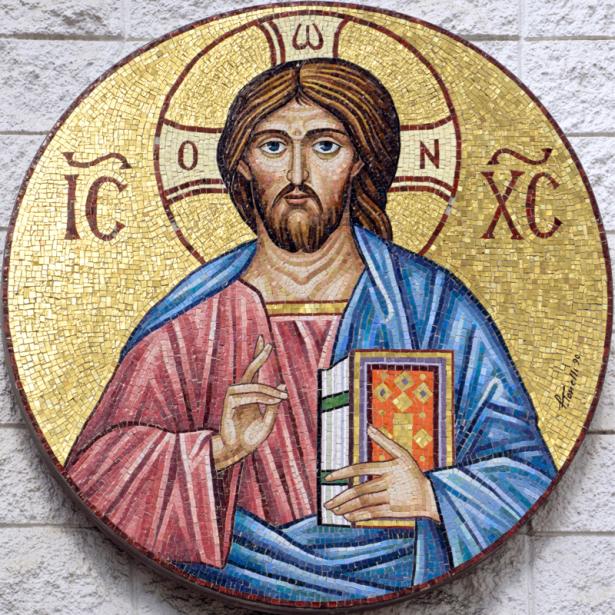 Икона греческая Иисус Христос (icon-00101)