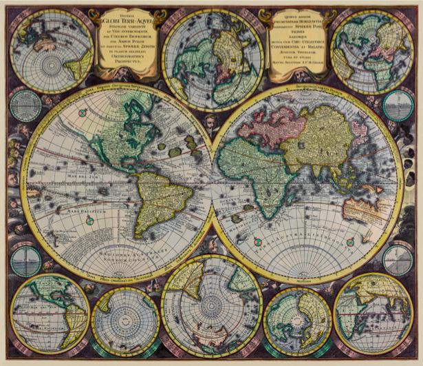 атлас, география, карты, старая карта (map-0000142)