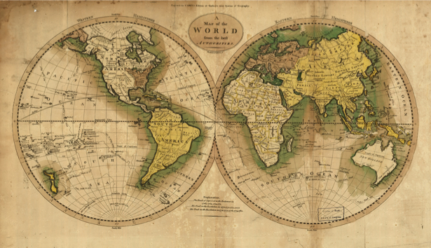 атлас, география, карты, старая карта (map-0000153)