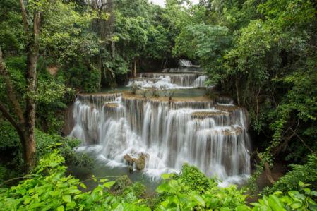 Фотообои каскад водопада лес (nature-0000859)