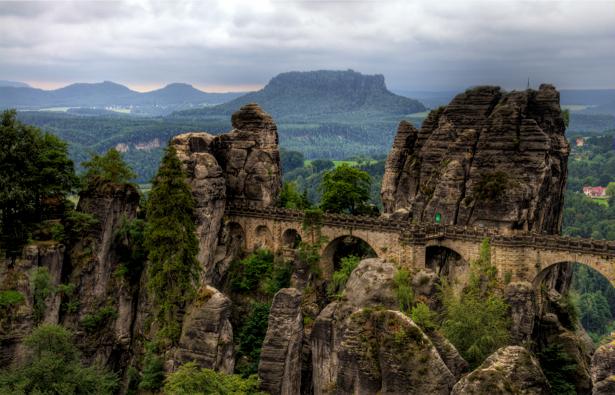 Фотообои с природой горы мост (nature-00052)