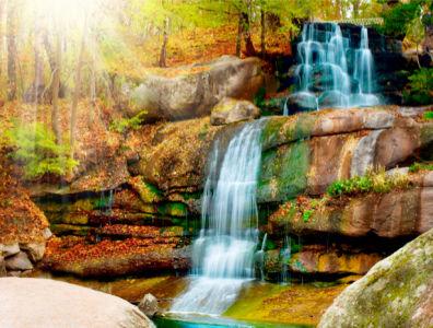 Фотообои красивые с природой горный водопад (nature-00091)