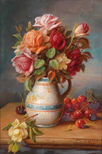 Картина натюрморт с цветами (pf-129)