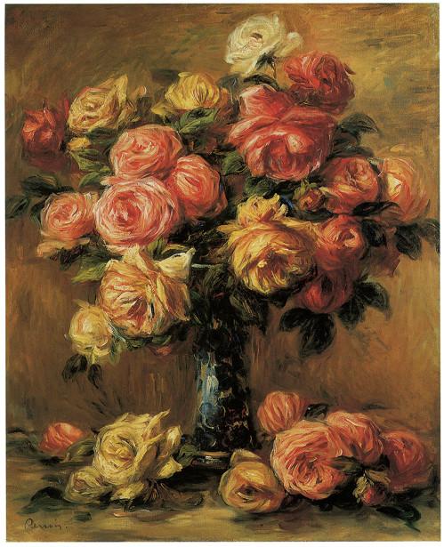 розы в вазе Пьер Огюст Ренуар (pf-95)