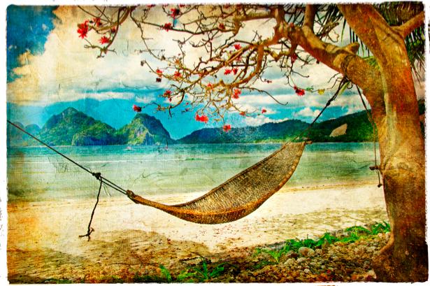 Фотообои пальмы природа море (retro-vintage-0000109)